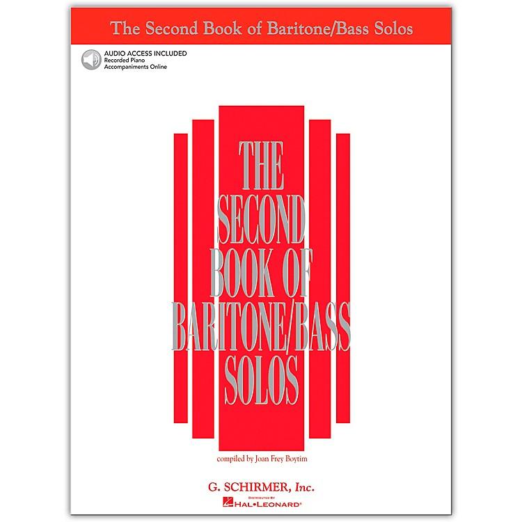 G. SchirmerThe Second Book Of Baritone / Bass Solos Book/2CD Pkg