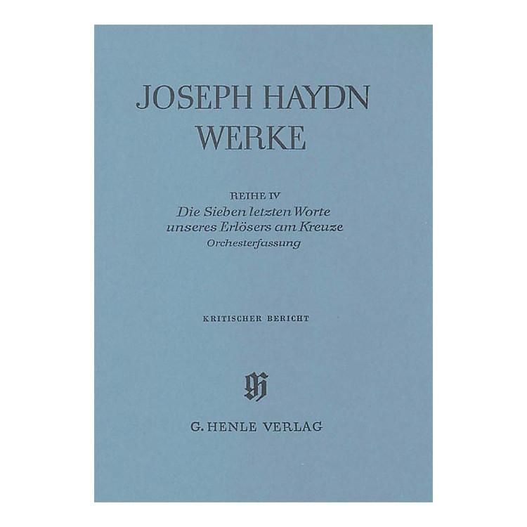 G. Henle VerlagThe Seven Last Words of Christ Henle Edition Series Hardcover
