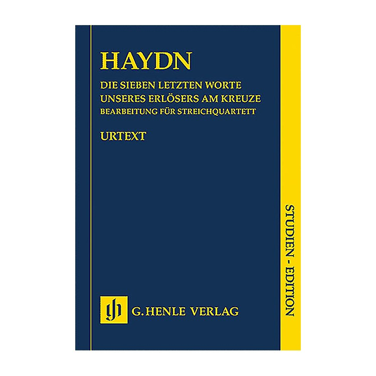 G. Henle VerlagThe Seven Last Words of Christ Henle Music Folios Series Softcover Composed by Joseph Haydn