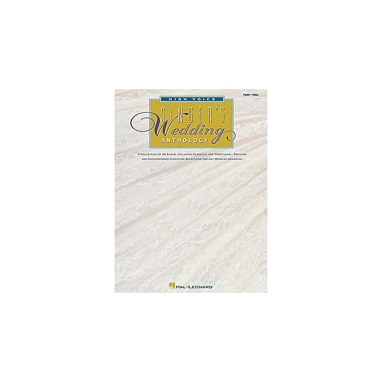 Hal LeonardThe Singer's Wedding Anthology