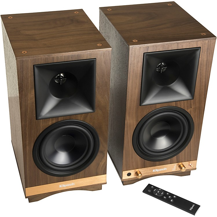 Klipsch The Sixes Powered Speakers Walnut