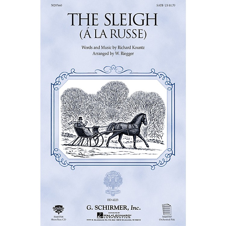 G. SchirmerThe Sleigh (À La Russe) (TTBB) TTBB Composed by Richard Kountz
