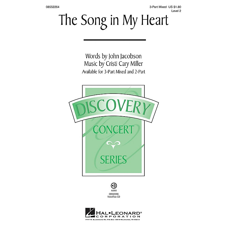 Hal LeonardThe Song in My Heart (Discovery Level 2) 2-Part Composed by Cristi Cary Miller