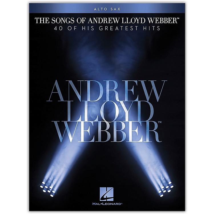 Hal Leonard The Songs of Andrew Lloyd Webber for Alto Sax Instrumental Songbook