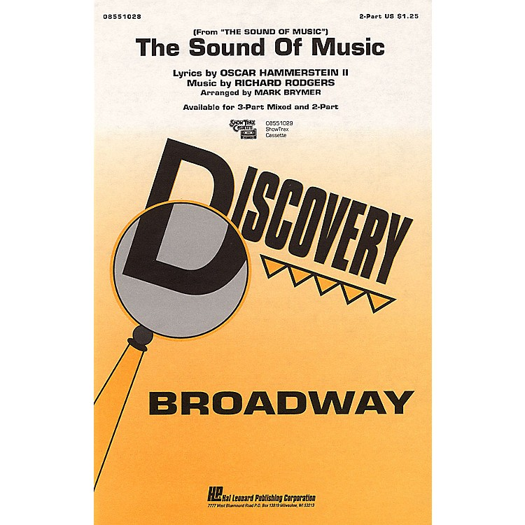 Hal Leonard The Sound of Music 2-Part arranged by Mark Brymer