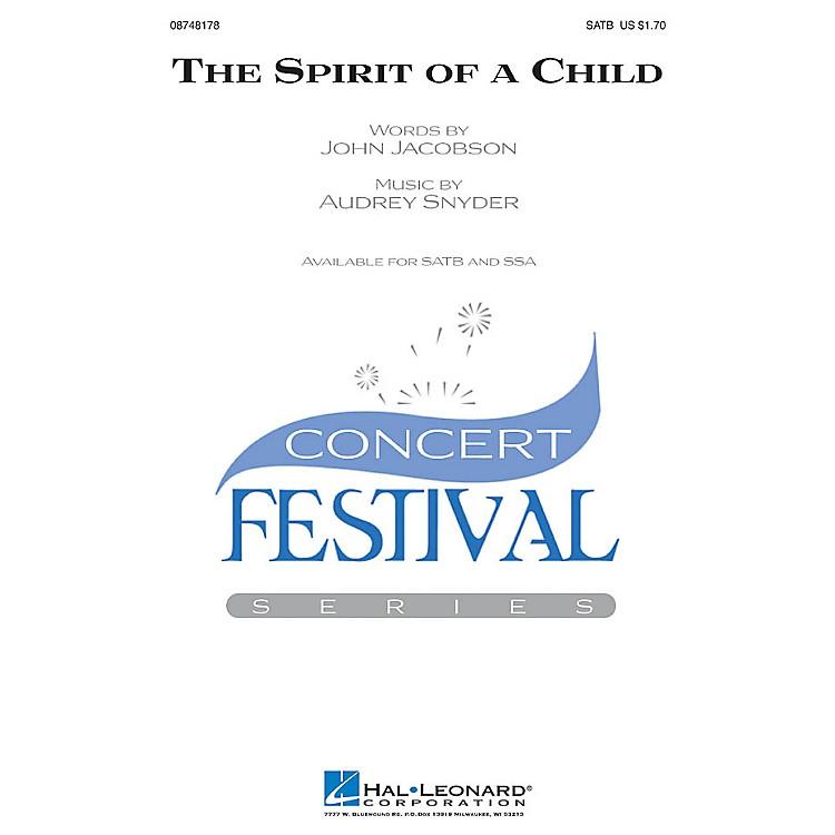 Hal LeonardThe Spirit of a Child SATB composed by Audrey Snyder