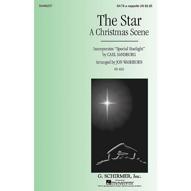 G. SchirmerThe Star (A Christmas Scene) - Incorporates Special Starlight SATB a cappella by Jon Washburn