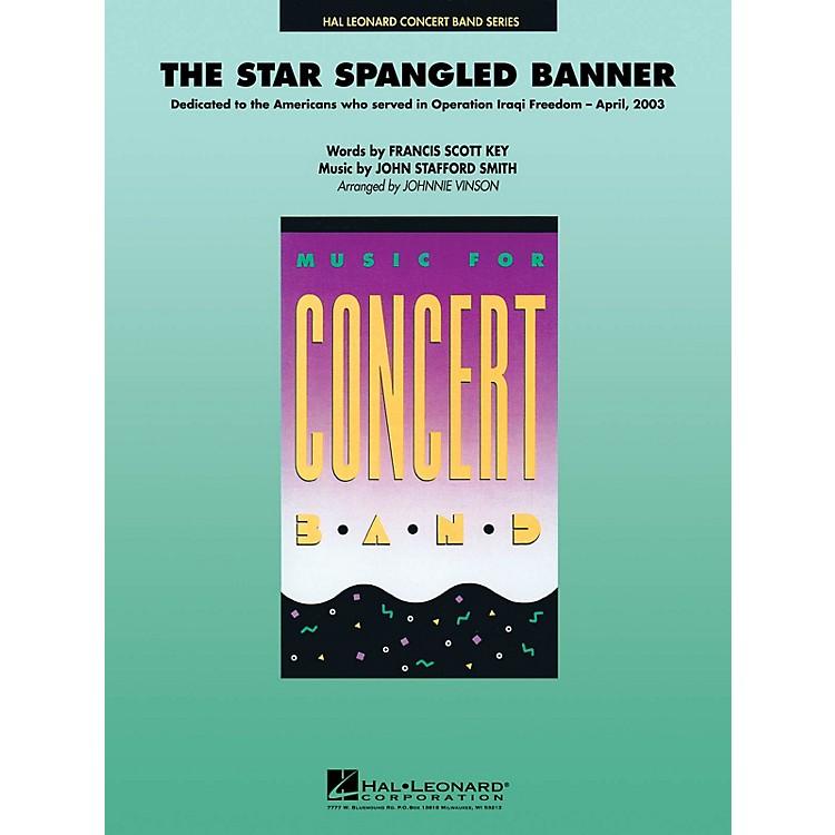 Hal LeonardThe Star Spangled Banner Concert Band Level 4 Arranged by Johnnie Vinson