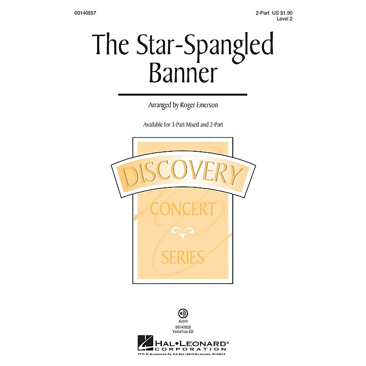 Hal LeonardThe Star Spangled Banner (Discovery Level 2) 2-Part arranged by Roger Emerson
