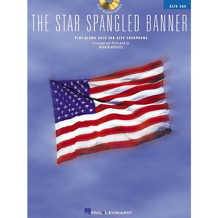Hal Leonard The Star Spangled Banner (Play-Along Solo for Alto Saxophone) Instrumental Folio Series Book with CD