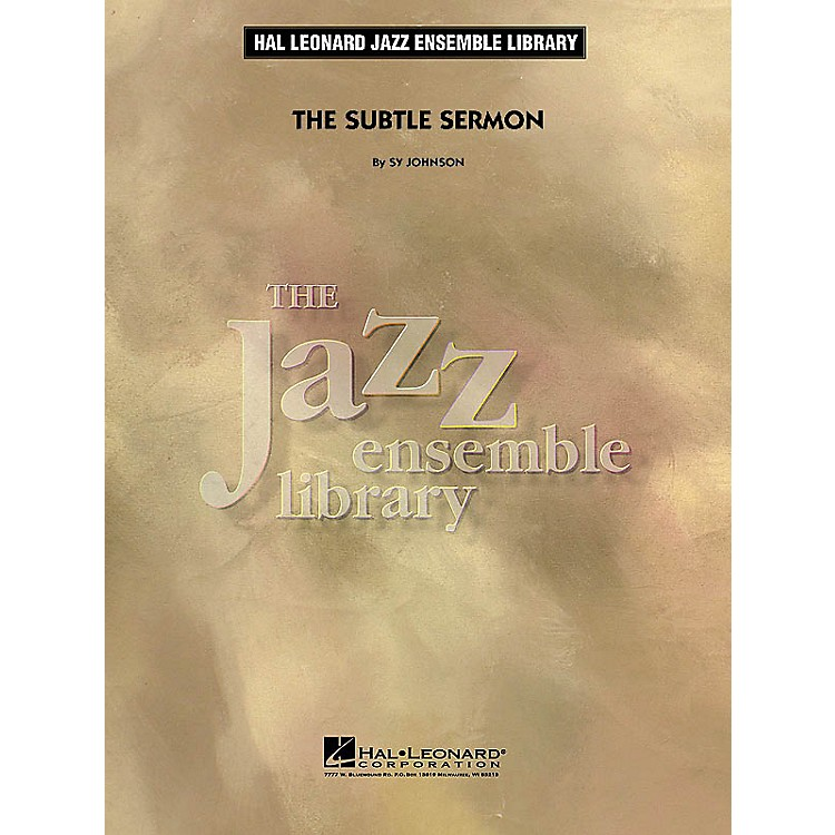 Hal Leonard The Subtle Sermon Jazz Band Level 4 Composed by Sy Johnson