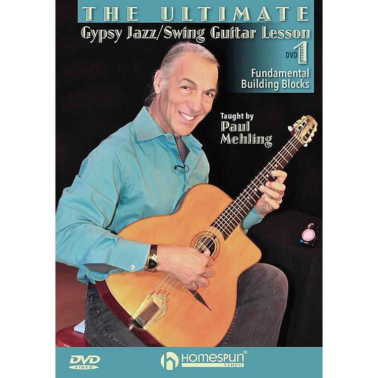 HomespunThe Ultimate Gypsy Jazz/Swing Guitar Lesson Homespun Tapes Series DVD Written by Paul Mehling