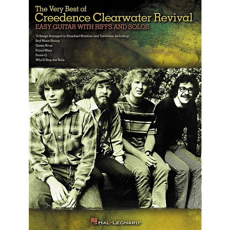 Hal LeonardThe Very Best of Creedence Clearwater Revival - Easy Guitar with Tab Riffs and Solos