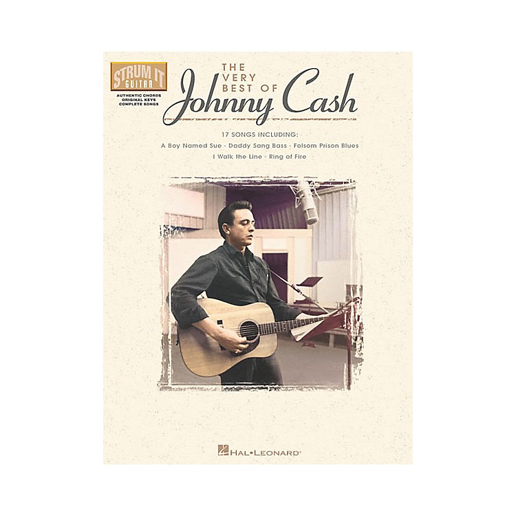 Hal Leonard The Very Best of Johnny Cash Guitar Tab Songbook