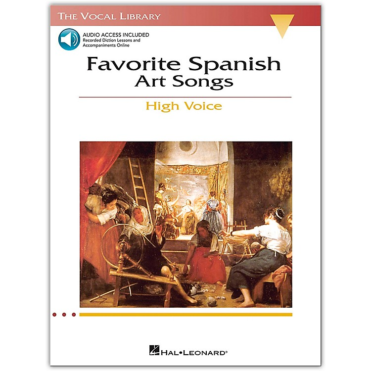 Hal Leonard The Vocal Library Series: Favorite Spanish Art Songs for High Voice (Book/Online Audio)