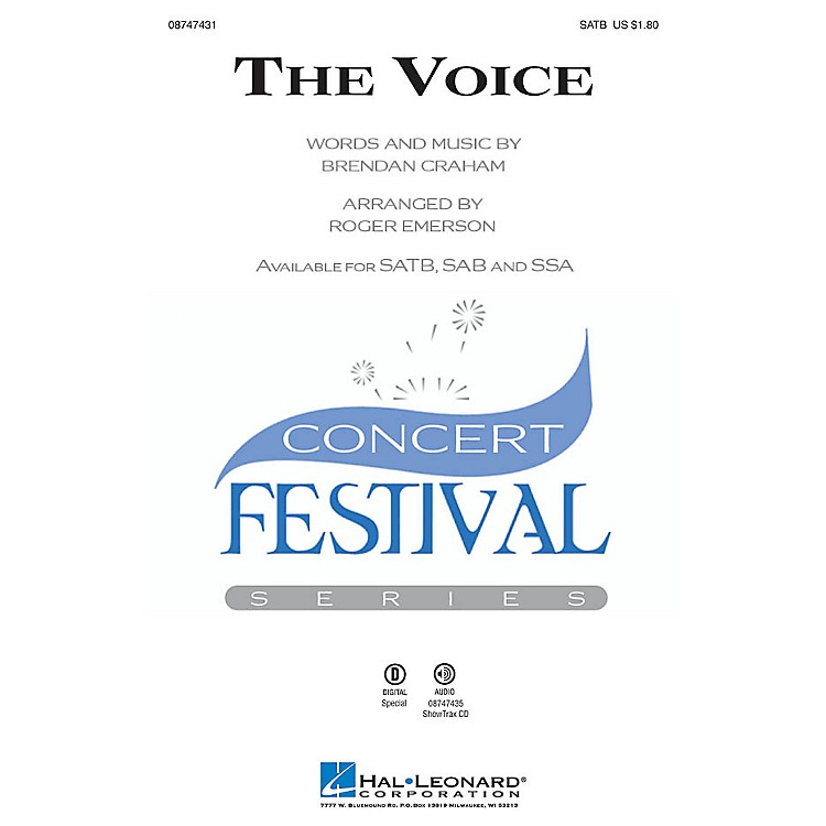 Hal Leonard The Voice SATB arranged by Roger Emerson