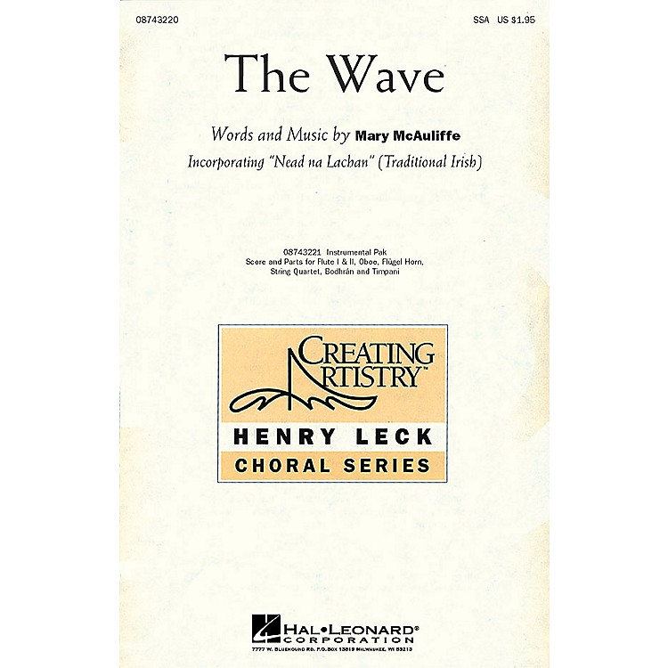 Hal Leonard The Wave IPAKS Composed by Mary McAuliffe