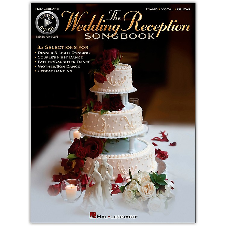 Hal Leonard The Wedding Reception Songbook for Piano/Vocal/Guitar (Book/Online Audio)