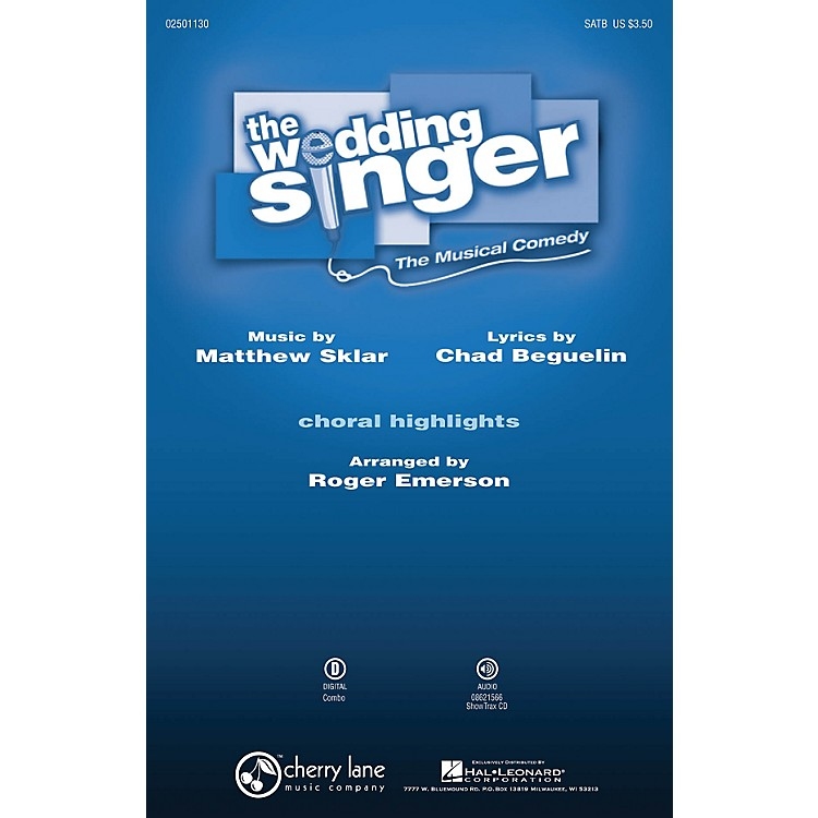 Hal LeonardThe Wedding Singer (Choral Highlights) ShowTrax CD Arranged by Roger Emerson