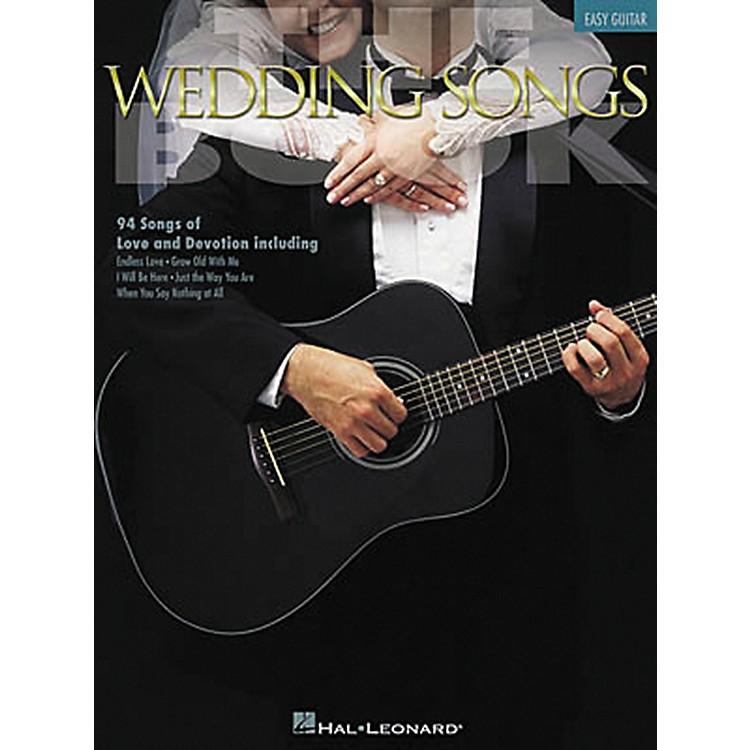 Hal LeonardThe Wedding Songs Easy Guitar Tab Songbook