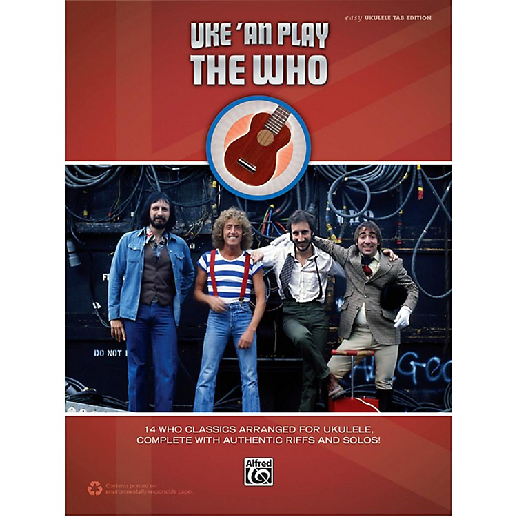 Alfred The Who - Uke 'An Play Easy Ukulele TAB Book