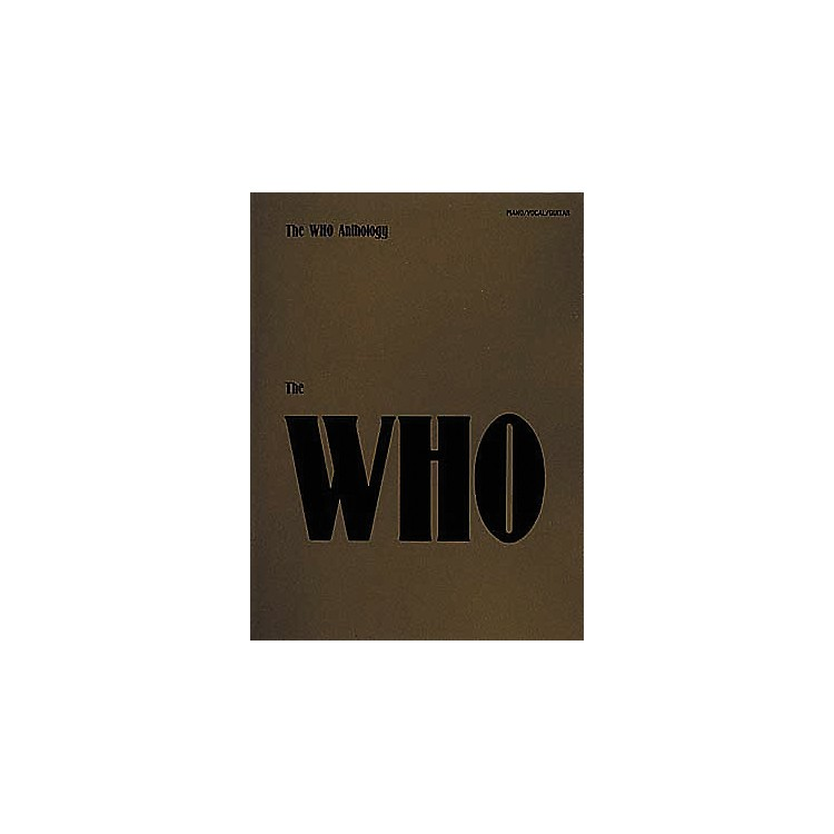 Hal LeonardThe Who Anthology Piano, Vocal, Guitar Songbook