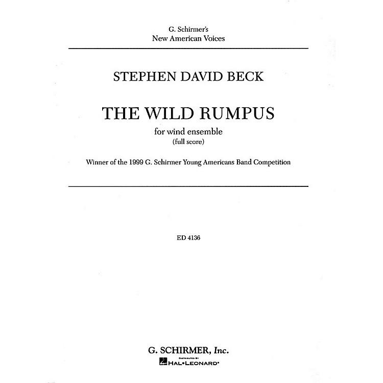 G. SchirmerThe Wild Rumpus Cb Score Concert Band Concert Band