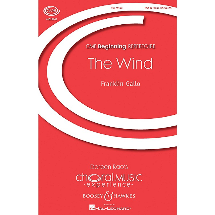 Boosey and HawkesThe Wind (CME Beginning) SSA composed by Franklin Gallo