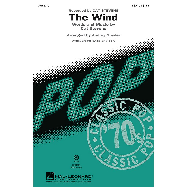 Hal LeonardThe Wind SSA by Cat Stevens arranged by Audrey Snyder