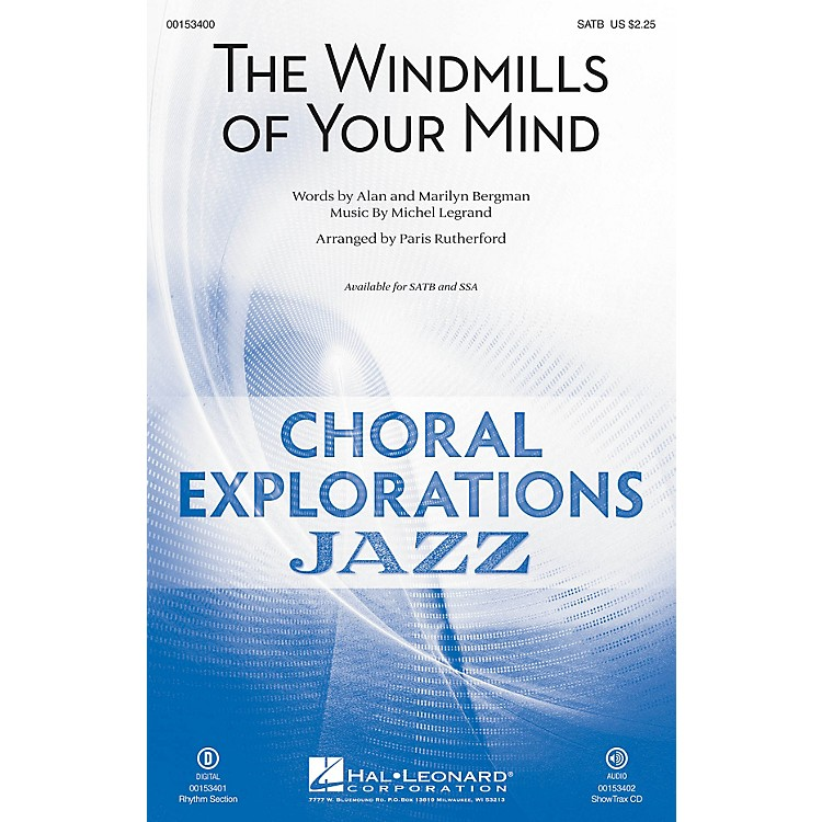 Hal Leonard The Windmills of Your Mind SSA Arranged by Paris Rutherford