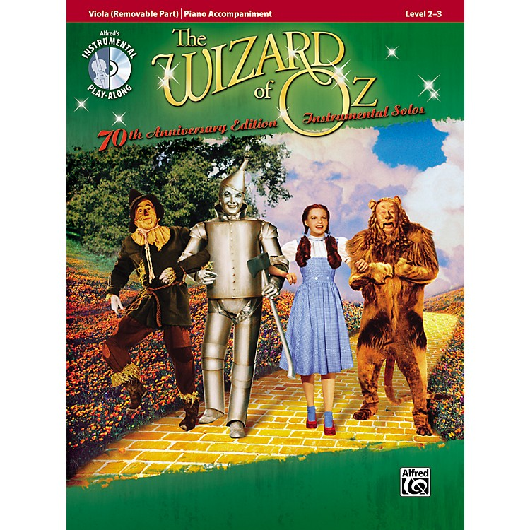 Alfred The Wizard of Oz 70th Anniversary Edition Instrumental Solos: Viola (Songbook/CD)