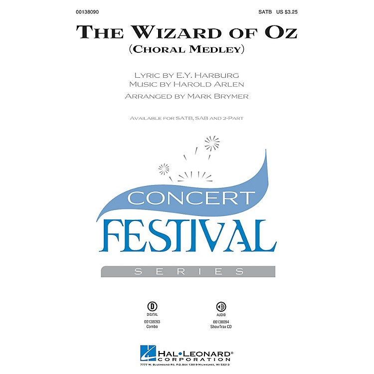 Hal Leonard The Wizard of Oz (Choral Medley) SATB arranged by Mark Brymer