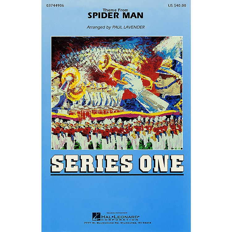 Hal LeonardTheme from Spider-Man Marching Band Level 2 Arranged by Paul Lavender