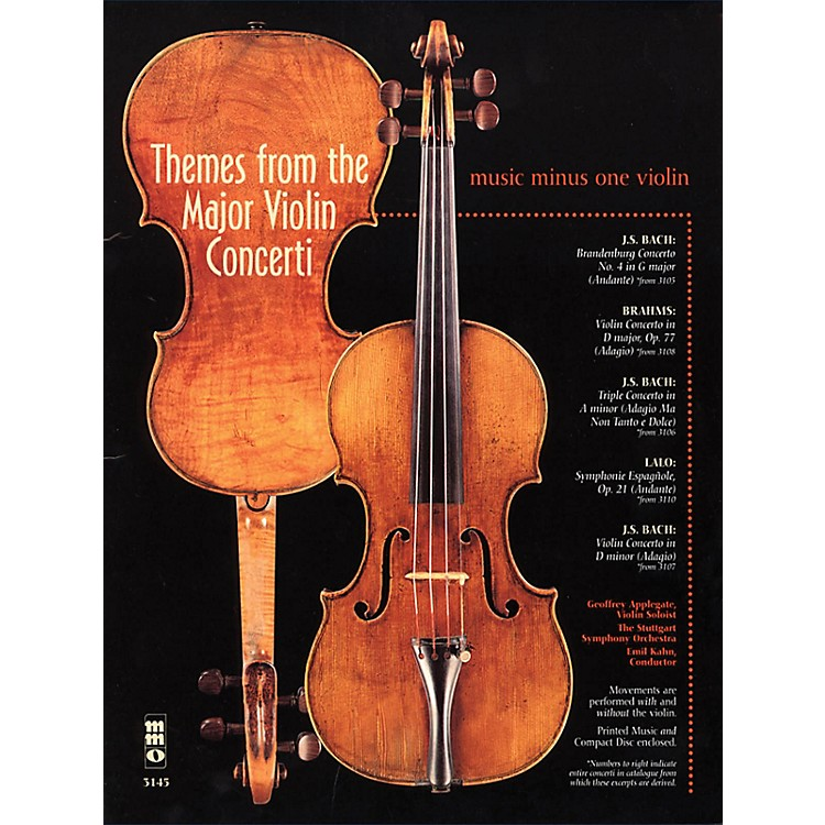 Music Minus OneThemes from the Major Violin Concerti Music Minus One Series Softcover with CD Composed by Various