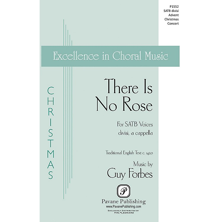 Pavane There Is No Rose SATB DV A Cappella composed by Guy Forbes
