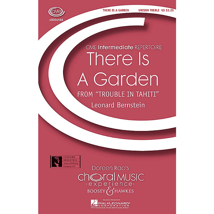 Boosey and Hawkes There Is a Garden (from Trouble in Tahiti) CME Intermediate UNIS composed by Leonard Bernstein