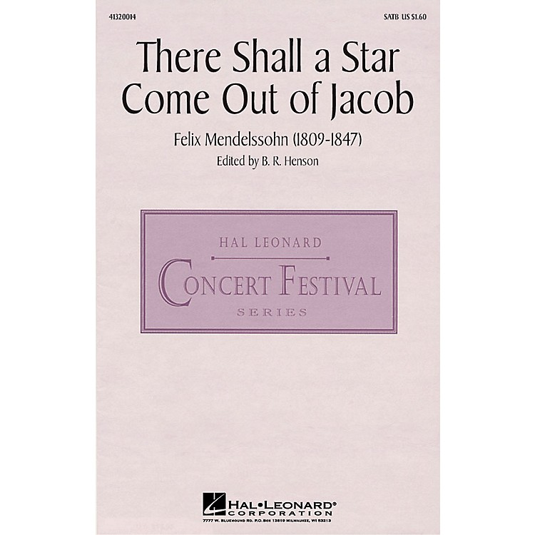 Hal Leonard There Shall a Star Come Out of Jacob SATB arranged by B.R. Henson