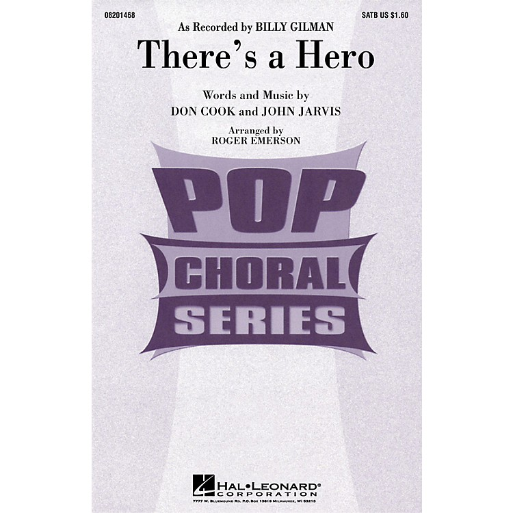 Hal Leonard There's a Hero ShowTrax CD by Billy Gilman Arranged by Roger Emerson