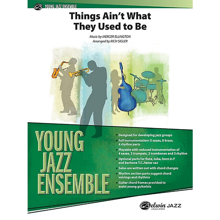 AlfredThings Ain't What They Used to Be - Jazz Band Grade 2 Set