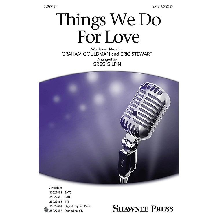 Shawnee PressThings We Do for Love Studiotrax CD Arranged by Greg Gilpin