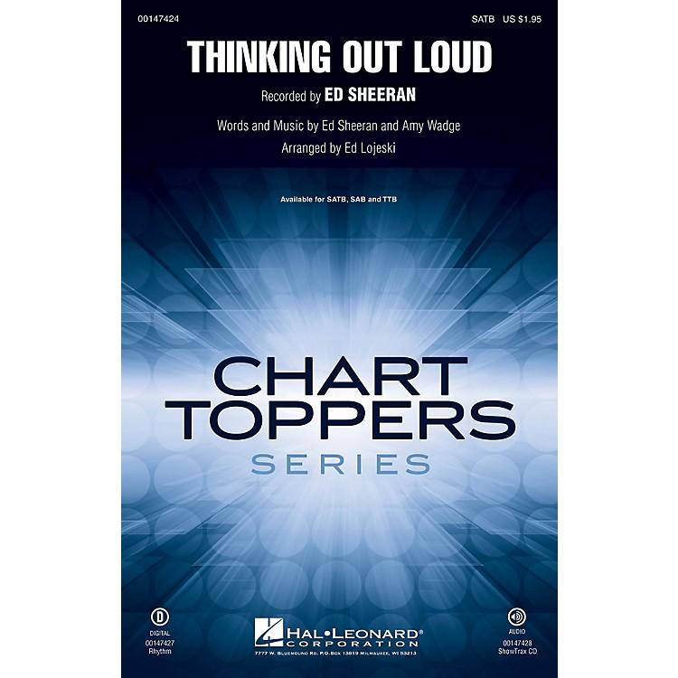 Hal LeonardThinking Out Loud ShowTrax CD by Ed Sheeran Arranged by Ed Lojeski