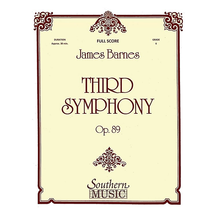 SouthernThird Symphony (European Parts) Concert Band Level 6 Composed by James Barnes
