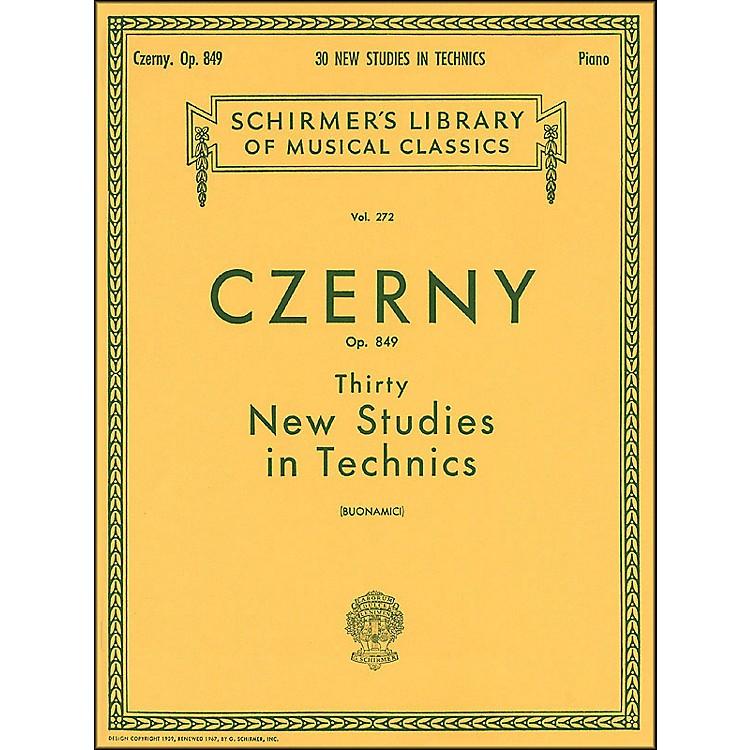 G. SchirmerThirty New Studies In Technics Op 849 Etudes De Mecanisme 30 By Czerny