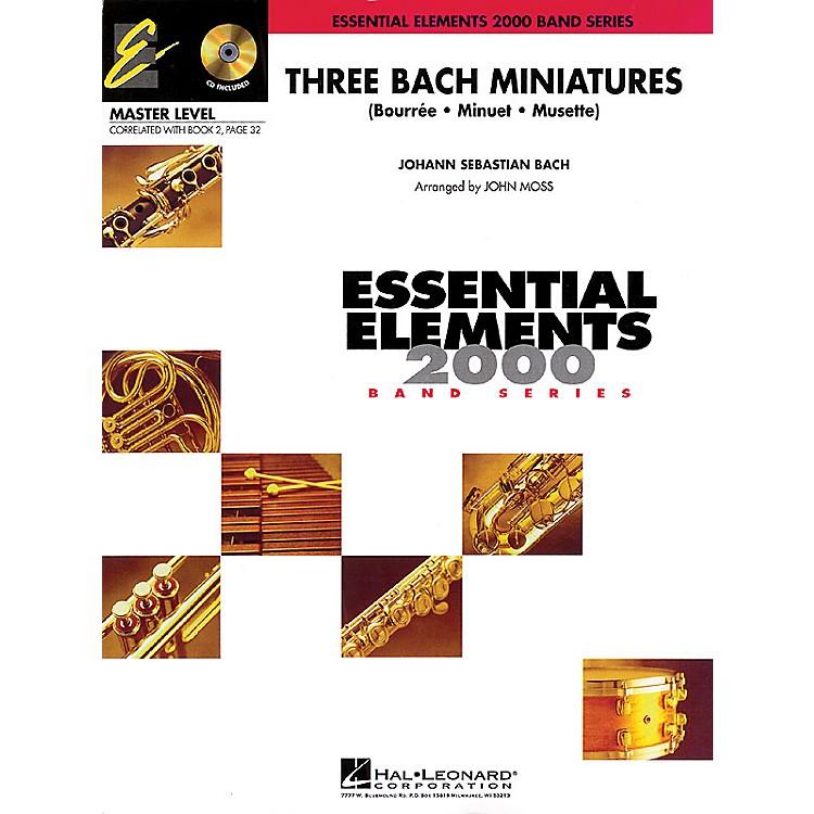Hal LeonardThree Bach Miniatures (Includes Full Performance CD) Concert Band Level 2 Arranged by John Moss