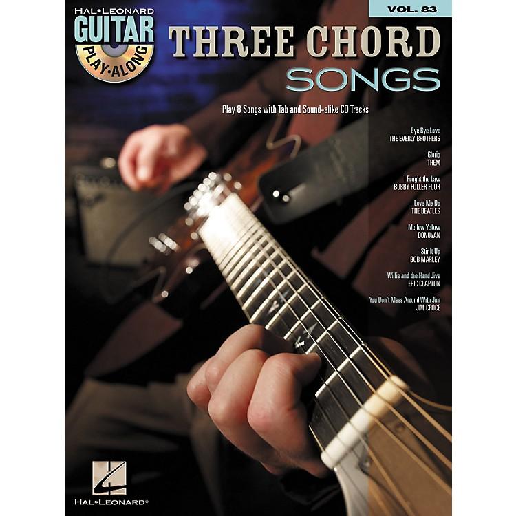 Hal LeonardThree Chord Songs: Guitar Play-Along, Volume 83 (Book/CD)