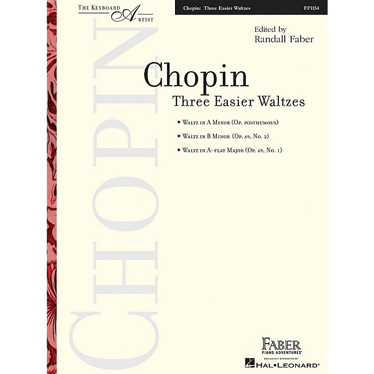Faber Piano AdventuresThree Easier Waltzes (The Keyboard Artist) Faber Piano Adventures Series Softcover by Frederic Chopin