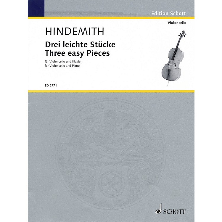 SchottThree Easy Pieces (Cello and Piano) Schott Series Composed by Paul Hindemith