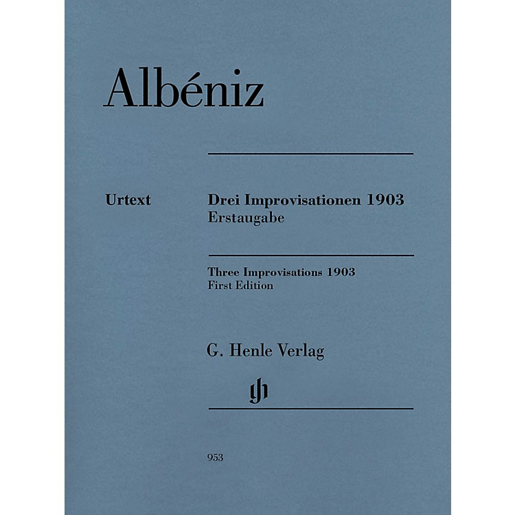 G. Henle VerlagThree Improvisations 1903 Henle Music BK/CD Composed by Isaac Albéniz Edited by Milton R. Laufer