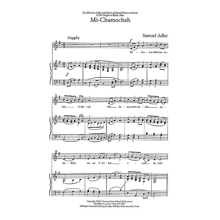 Transcontinental MusicThree Liturgical Settings SAB composed by Samuel Adler