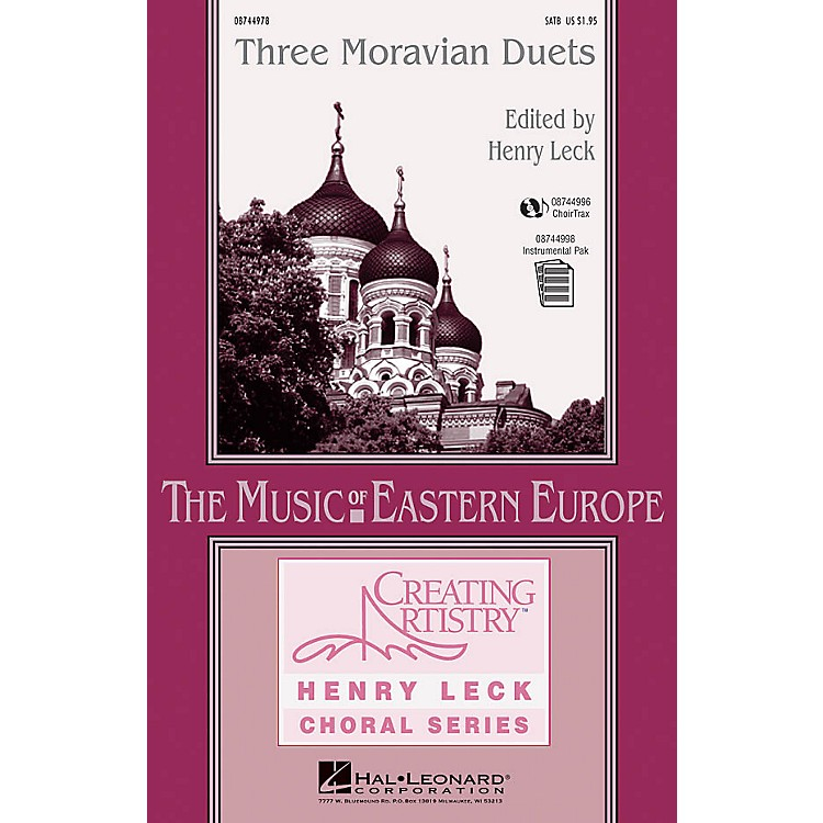 Hal LeonardThree Moravian Duets SATB composed by Antonín Dvorák